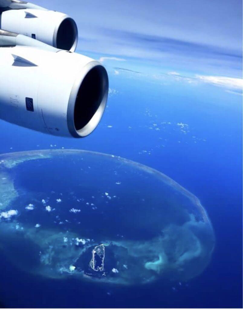 飛行機から撮った空の写真